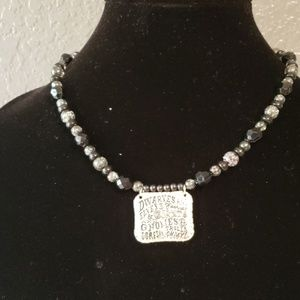 Jewelry - Black Necklace with Pendant